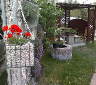 Gabion függő virágláda