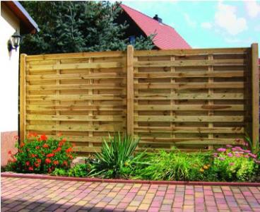 Vértes fa táblás kerítés keret nélkül