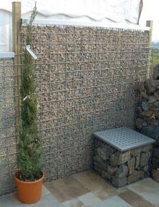 Gabion keskeny átlátásgátló kerítés