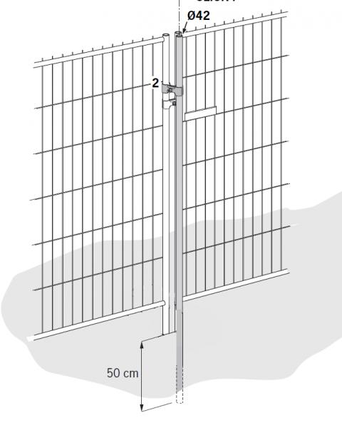 Mobilkerítés fix oszlopokkal