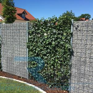 Összeszerelt keskeny gabion kerítés