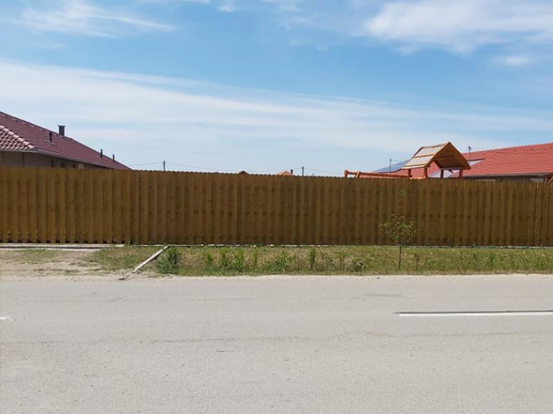 Mecsek fa kerítés keret nélkül