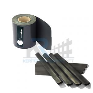 ECOFLEX Light betét műanyag 190mm x 35m Antracit 450g/m2 + 20db zárósín
