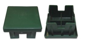 Oszlopsapka 60 x 60 mm zöld
