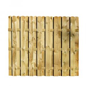 Mecsek egyenes kerítés elem 180x150 cm, 12x120 mm lécek, keret nélkül