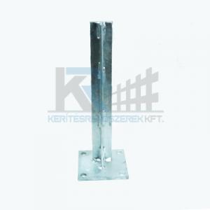 Univerzális talp adapter Bekaclip 48mm oszlophoz T alakú, erősített  horganyzott