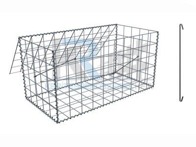 Gabion konténer  1x0,5x0,3 m, 76,2x76,2x3 mm osztás ZnAL (990x532x332)