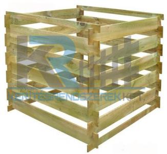 Fa komposztáló  120x120x71 cm