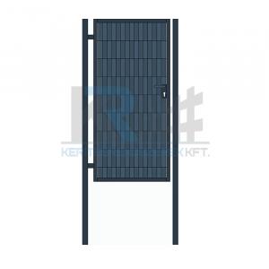Garten 2D egyszárnyú kapu, 1x1,8m antracit, belátásgátóval