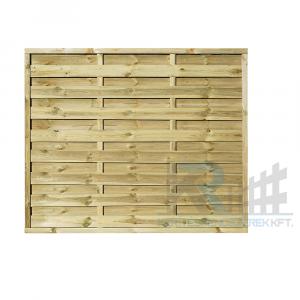 Pilis egyenes kerítés elem 180x150 cm, 30x45 mm kerettel, 5x100 mm lamellákkal