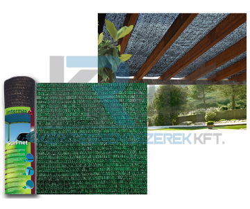 SUN-NET R7  4x5m árnyékoló háló, zöld