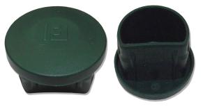 Oszlopsapka kerek 60 mm zöld