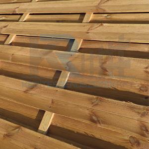 Mátra egyenes kerítés elem 180x200 cm, 36x42 mm kerettel, 5x95 mm lamellákkal