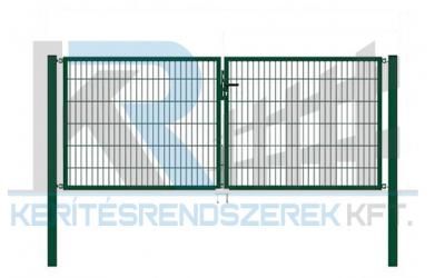 Garten 2D Kétszárnyú kapu 3,5mx1,2m, zöld