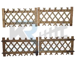 Vadászkerítés kapu kétszárnyú 300x80 cm