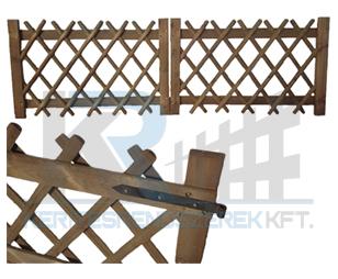 Vadászkerítés kapu kétszárnyú 300x100 cm