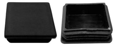Oszlopsapka 40 x 40 mm fekete