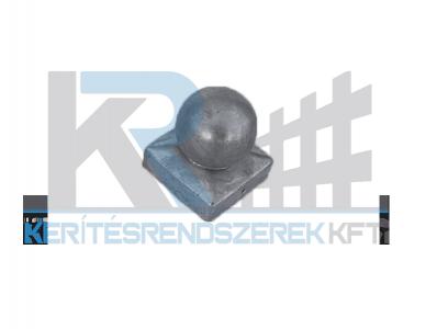Oszlopfedő süveg gömb fémből 7x7 cm oszlophoz