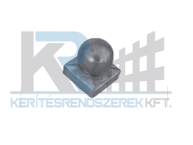 Oszlopfedő süveg gömb fémből 9x9 cm oszlophoz