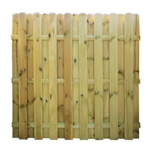 Mecsek egyenes kerítés elem 180x180 cm, 12x120 mm lécek, keret nélkül