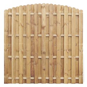 Mecsek íves kerítés elem 180x180 cm, 12x120 mm lécek, keret nélkül