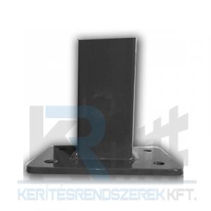 Zártszelvény oszlop antracit 40x60x2x1500 mm talplemezzel 150x100x5mm,