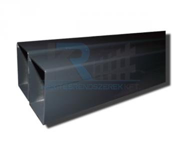Zártszelvény oszlop antracit 40x60x1,5x2400 mm, FURAT NÉLKÜL