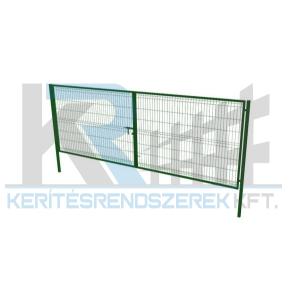 Garten 3D kétszárnyú kapu 3x1,5m, zöld