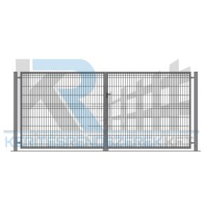 Garten 3D kétszárnyú kapu 3x1,7m, horganyzott