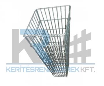 Gabion négyszög oszlop , kerti csaphoz 200x200x1100 mm 25x100mm horganyzott