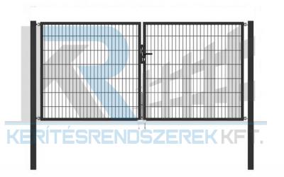 Garten 2D kétszárnyú kapu 3,5mx1,4m, antracit