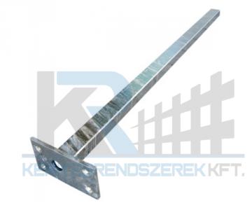 Zártszelvény oszlop horganyzott 40x60x2x1700 mm talplemezzel 150x100x5 mm,
