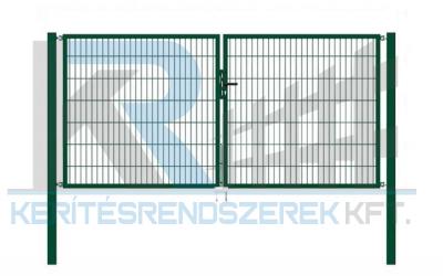 Garten 2D kétszárnyú kapu 3,5mx1,4m, zöld