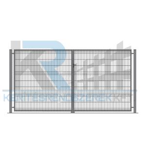 Garten 3D kétszárnyú kapu 3x2,0m, horganyzott