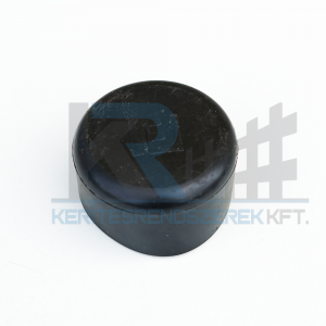 Oszlopsapka kerek 48 mm fekete