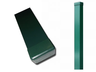 Zártszelvény oszlop zöld 40x60x1,5x2200 mm, FURAT NÉLKÜL