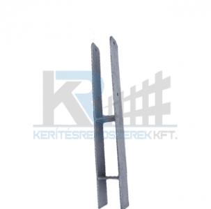 Oszloptartó betonozható vagy oldalt dűbelezhető H alakú 7x7 cm fa oszlophoz