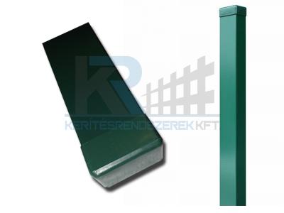 Zártszelvény oszlop zöld 40x60x1,5x2400 mm, FURAT NÉLKÜL