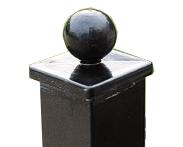 Gömb sapkás díszkerítés  oszlop 60x60 2000mm antracit