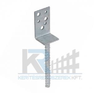 Oszloptartó L-alakú betonozható 80x60x100x5x200x20 mm