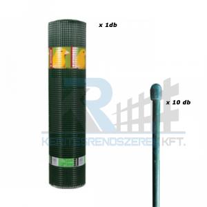 Casnaet PVC 12,7x12,7 0,5/5m + 10 db fonatoló pálca 1050 mm zöld