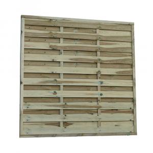 Pilis egyenes kerítés elem 180x180 cm, 30x45 mm kerettel, 5x100 mm lamellákkal