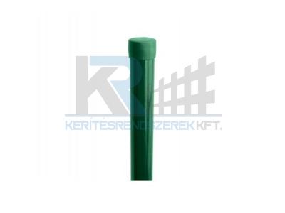 Kerek oszlop zöld 38 x 2000 mm dróttartó nélkül