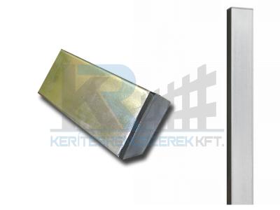 Zártszelvény oszlop tüzihorganyzott 40x60x1,5x2700 mm, FURAT NÉLKÜL