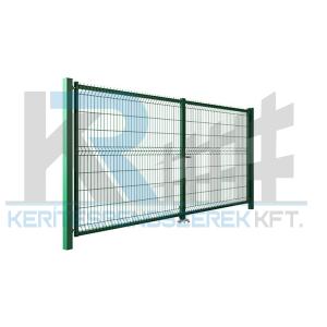 Garten 3D kétszárnyú kapu 3x1,7m, zöld