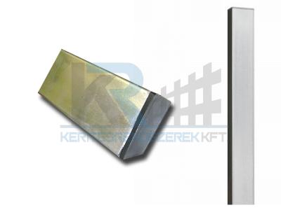 Zártszelvény oszlop tüzihorganyzott 40x60x1,5x2400 mm, FURAT NÉLKÜL