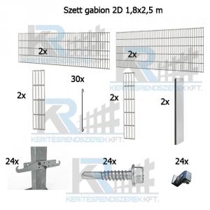 Szett gabion 2D 1,8x2,5m