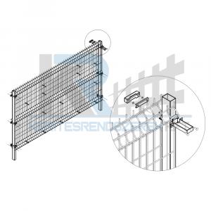 Gabion 3D kerítés  szett 7,5x1,72m