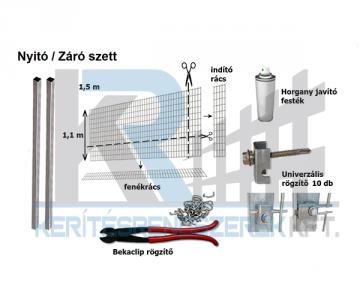 Szett Gabion Basic 110 cm nyitó záró
