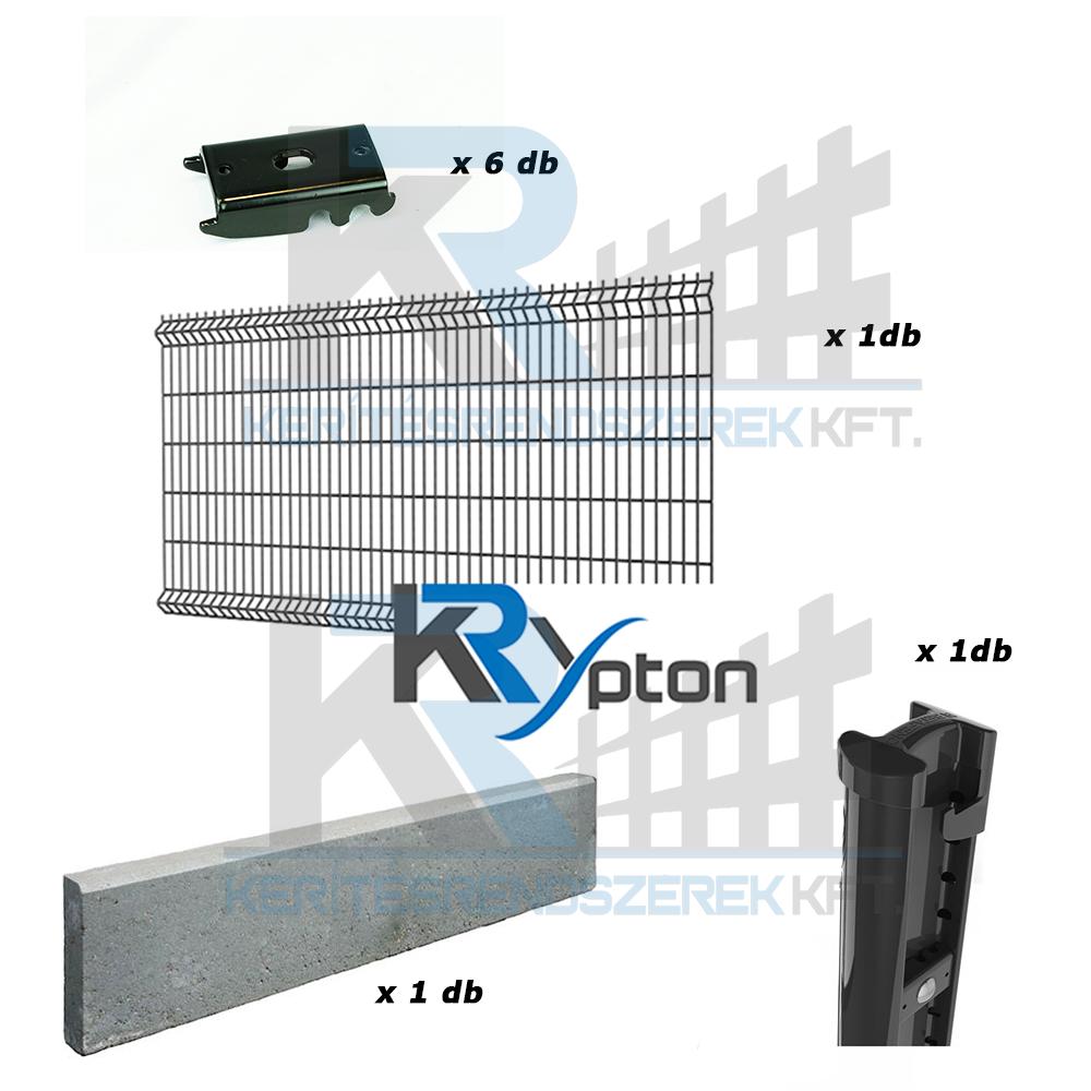 3D DESIGN szett 1,5m magas antracit kerítés